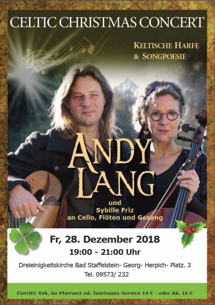 Celtic Christmas Concert mit Andy Lang und Sybille Friz